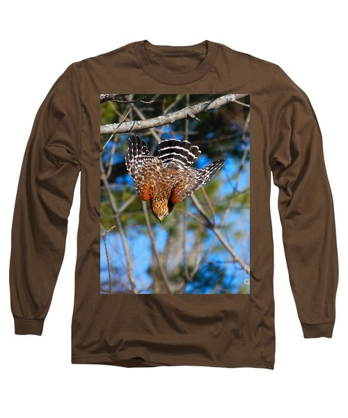 Long Sleeve T-Shirt featuring the photograph Red-shouldered Hawk  by Debbie Stahre