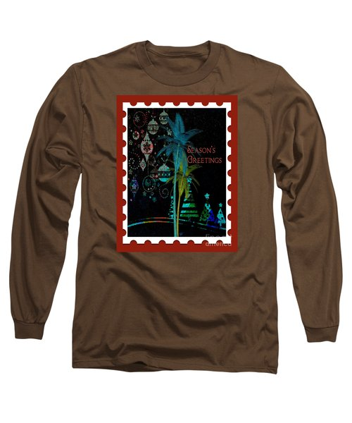 Long Sleeve T-Shirt featuring the digital art Red Stamp by Megan Dirsa-DuBois