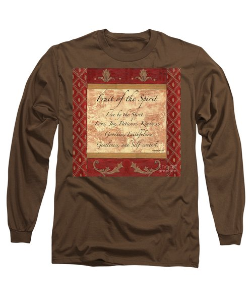 Red Traditional Fruit Of The Spirit Long Sleeve T-Shirt