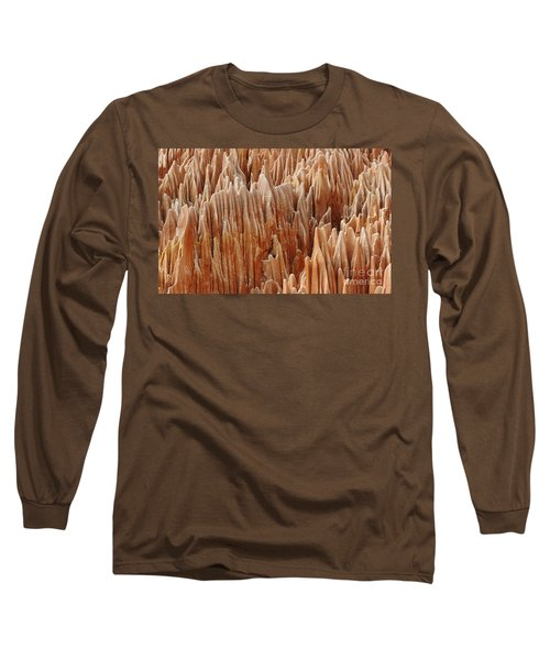 Long Sleeve T-Shirt featuring the photograph red Tsingy Madagascar 4 by Rudi Prott