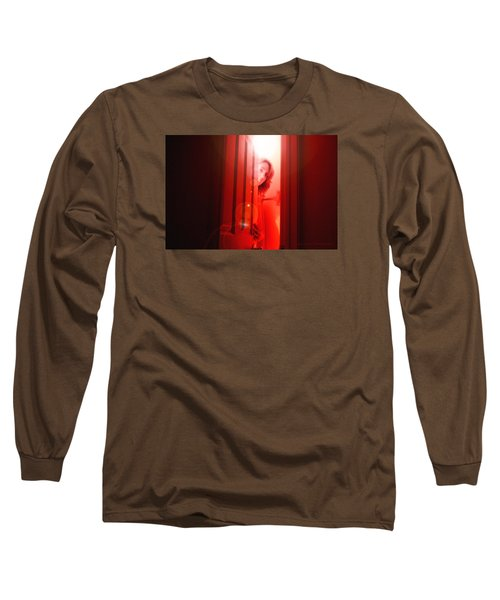 Red Unfocused Long Sleeve T-Shirt