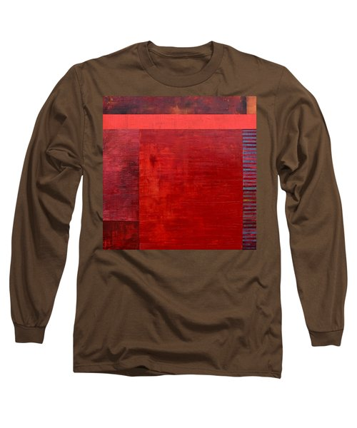 Red With Orange Long Sleeve T-Shirt
