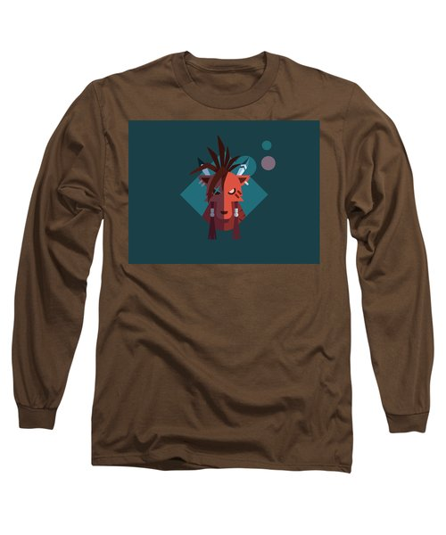 Long Sleeve T-Shirt featuring the digital art Red Xiii by Michael Myers