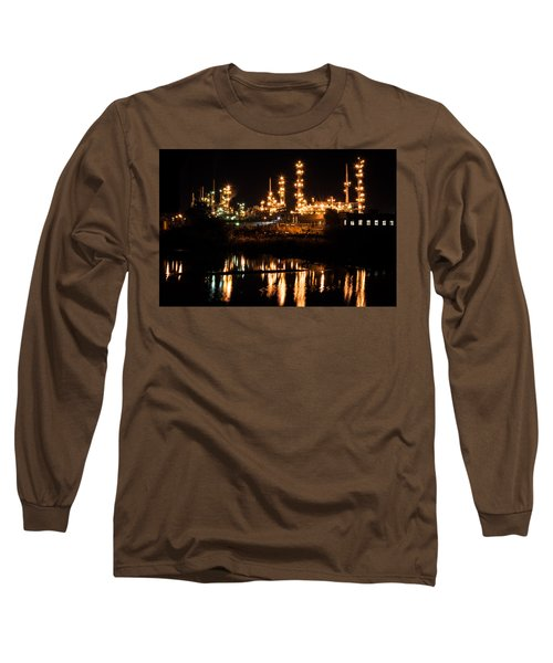 Refinery At Night 1 Long Sleeve T-Shirt