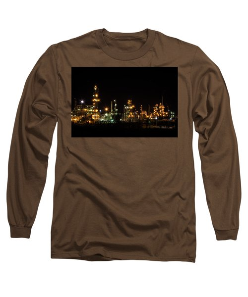 Refinery At Night 2 Long Sleeve T-Shirt