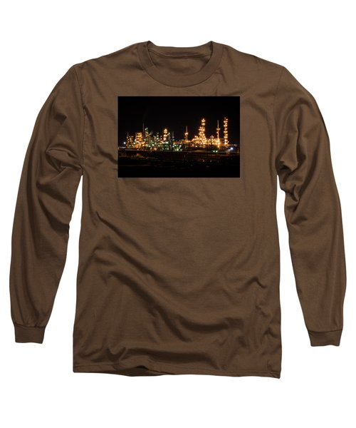 Refinery At Night 3 Long Sleeve T-Shirt
