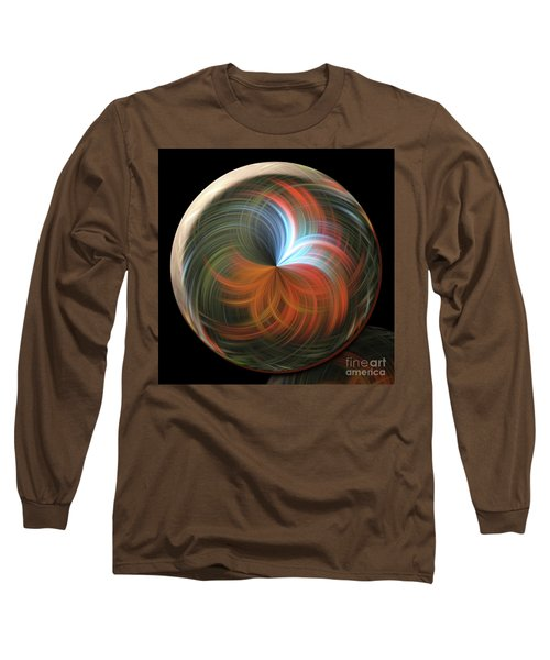 Reflecting Orb Long Sleeve T-Shirt by Judy Wolinsky