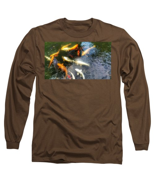 Reflections And Fish 5 Long Sleeve T-Shirt by Isabella F Abbie Shores FRSA