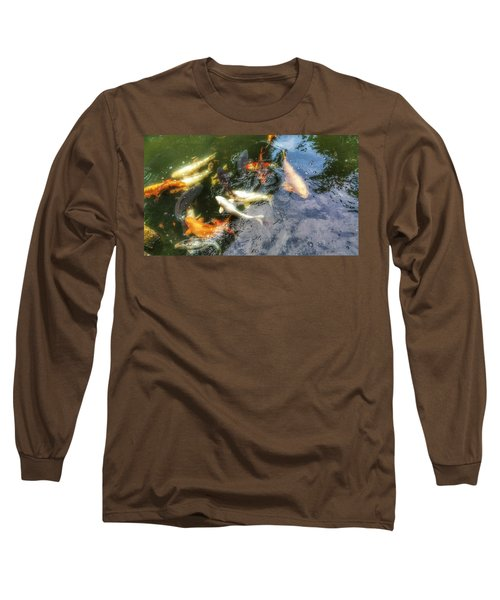 Reflections And Fish 6 Long Sleeve T-Shirt by Isabella F Abbie Shores FRSA