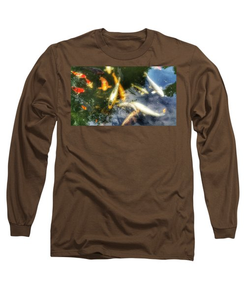 Reflections And Fish 7 Long Sleeve T-Shirt by Isabella F Abbie Shores FRSA