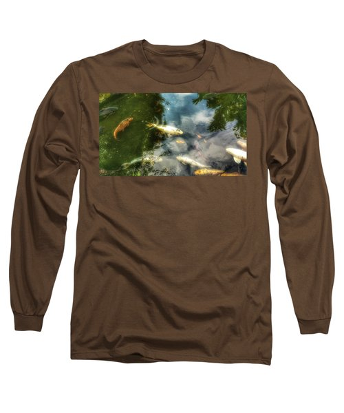 Reflections And Fish  Long Sleeve T-Shirt by Isabella F Abbie Shores FRSA