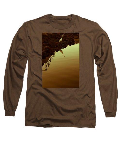 Long Sleeve T-Shirt featuring the photograph Elegant Bird by Lora Lee Chapman