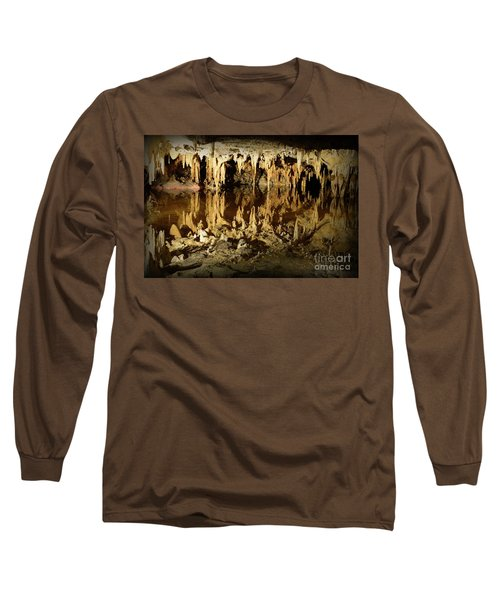 Long Sleeve T-Shirt featuring the photograph Reflections Of Dream Lake At Luray Caverns by Paul Ward