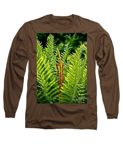 Refreshing Fern In The Woodland Garden Long Sleeve T-Shirt