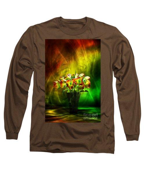 Reggae Tulips Long Sleeve T-Shirt by Johnny Hildingsson