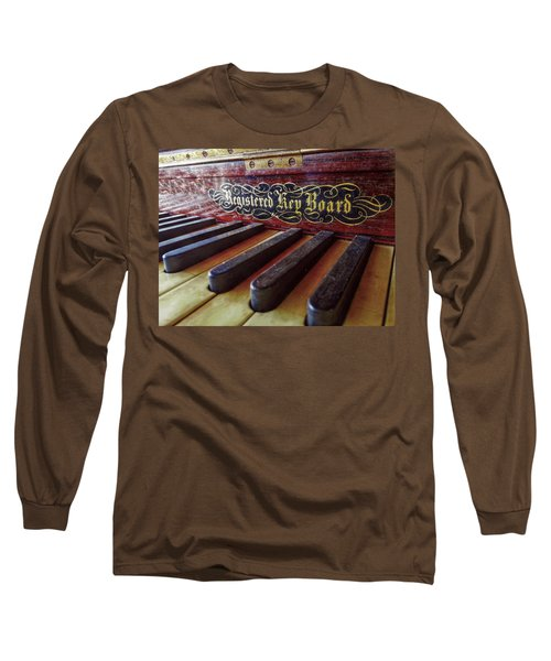 Long Sleeve T-Shirt featuring the photograph Registered Key Board by Linda Unger
