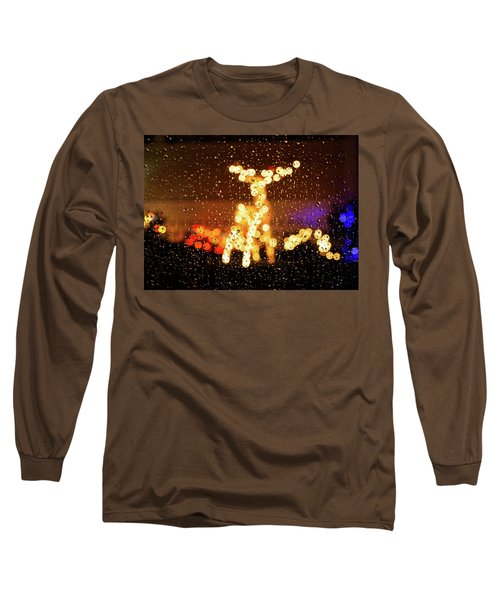 Reindeer Bokeh Long Sleeve T-Shirt