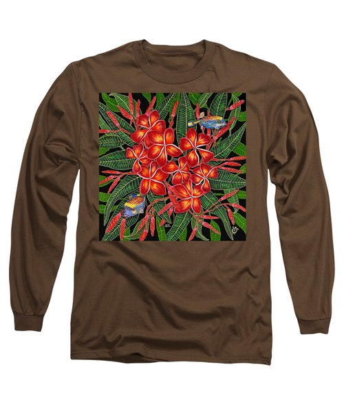 Tropical Fish Plumerias Long Sleeve T-Shirt