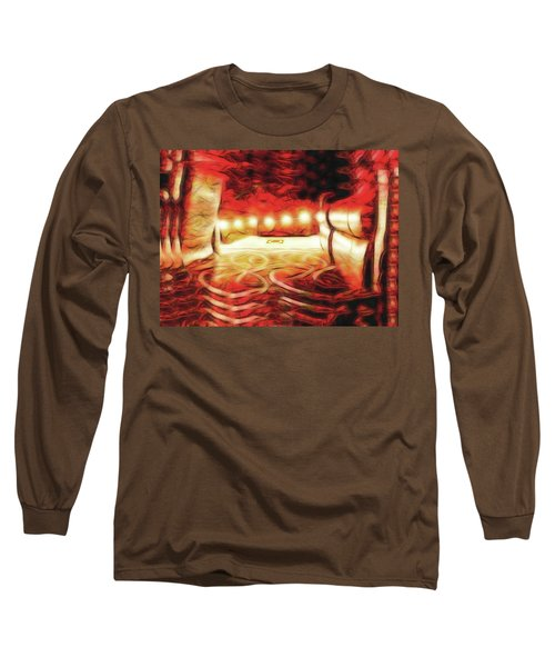 Long Sleeve T-Shirt featuring the digital art Reservations - Row C by Wendy J St Christopher
