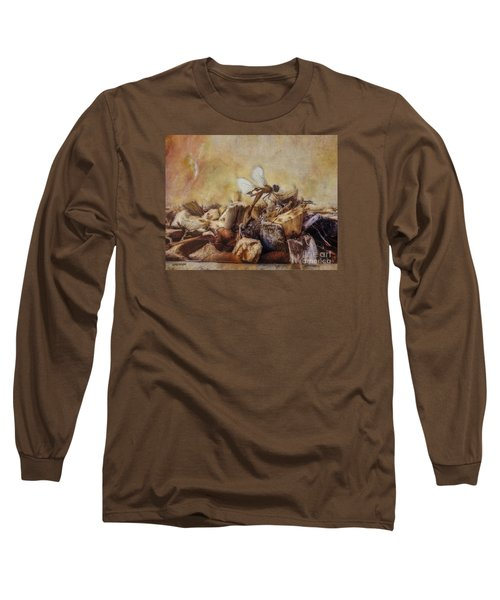 Long Sleeve T-Shirt featuring the digital art Respite Of The Mosquito Hawk by Rhonda Strickland