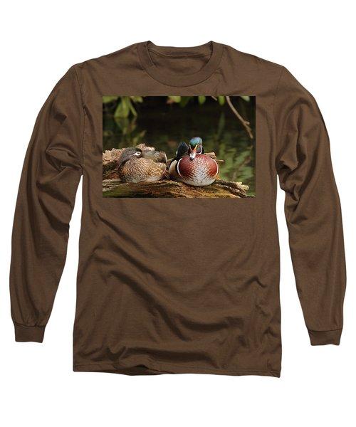 Resting Wood Ducks Long Sleeve T-Shirt