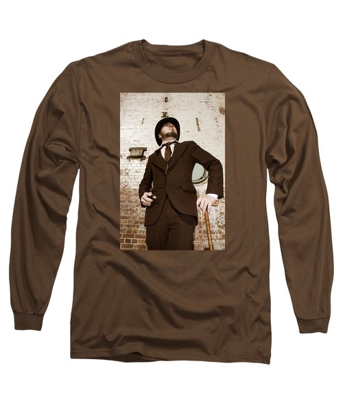 Long Sleeve T-Shirt featuring the photograph Retro Nobel Man by Jorgo Photography - Wall Art Gallery