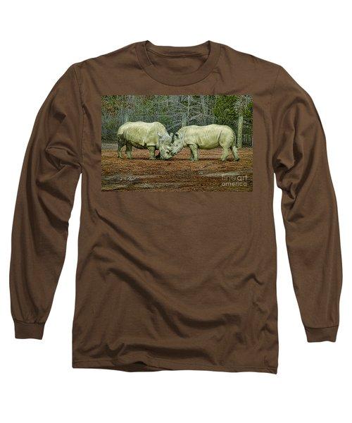 Rhinos In Love Long Sleeve T-Shirt