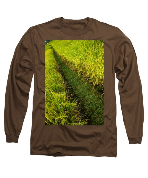 Rice Field Hiking Long Sleeve T-Shirt