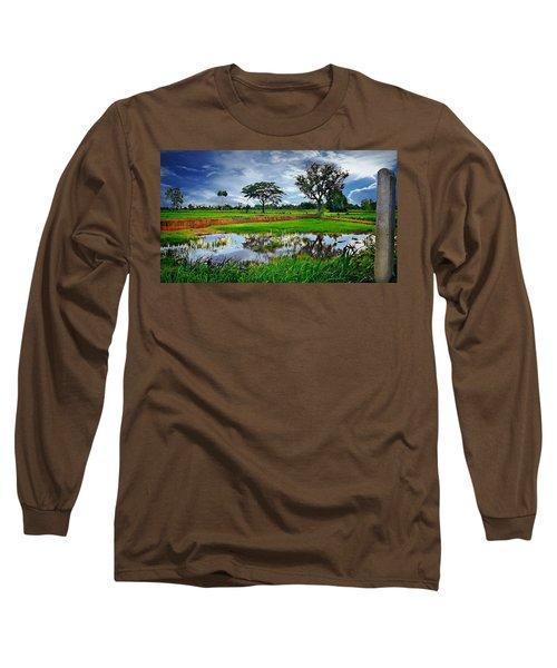 Rice Paddy View Long Sleeve T-Shirt