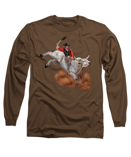 Ride 'em Cowboy Long Sleeve T-Shirt by Glenn Holbrook