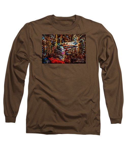 Long Sleeve T-Shirt featuring the photograph Riding A Carousel In My Colorful Dream by Michael Arend