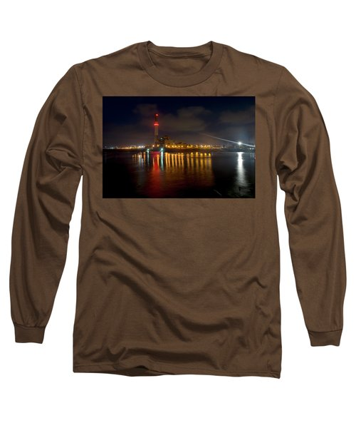 Long Sleeve T-Shirt featuring the photograph Riding Station, Tel Aviv, Water Side by Dubi Roman