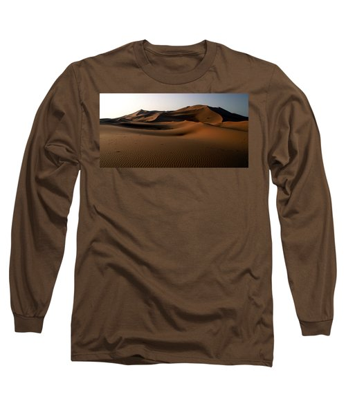 Ripples In The Sand Long Sleeve T-Shirt by Ralph A  Ledergerber-Photography