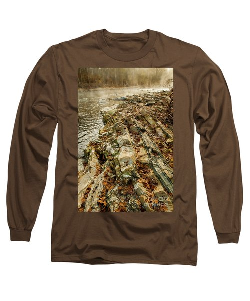 Long Sleeve T-Shirt featuring the photograph River Bank by Iris Greenwell