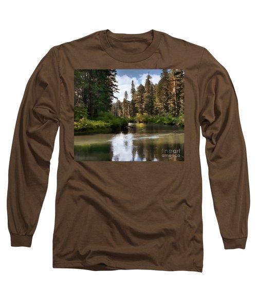 Millers Creek Painterly Long Sleeve T-Shirt by Peter Piatt