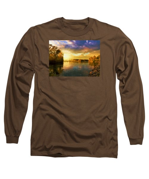 River Sunset Long Sleeve T-Shirt