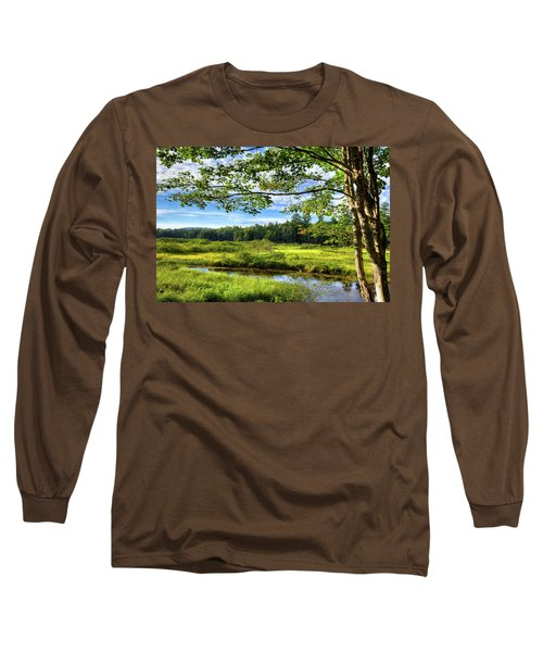 Long Sleeve T-Shirt featuring the photograph River Under The Maple Tree by David Patterson