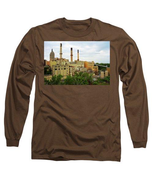 Rochester, Ny - Factory And Smokestacks 2005 Long Sleeve T-Shirt by Frank Romeo