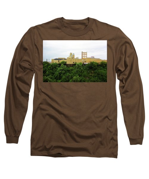 Long Sleeve T-Shirt featuring the photograph Rochester, Ny - Factory On A Hill by Frank Romeo