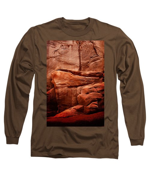 Rock Face Long Sleeve T-Shirt by Harry Spitz