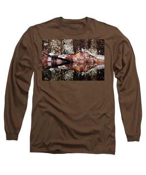 Rock Face Reflected Long Sleeve T-Shirt