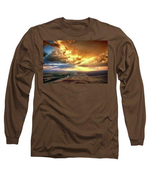 Rolling Rain Of Summer Sunset Long Sleeve T-Shirt