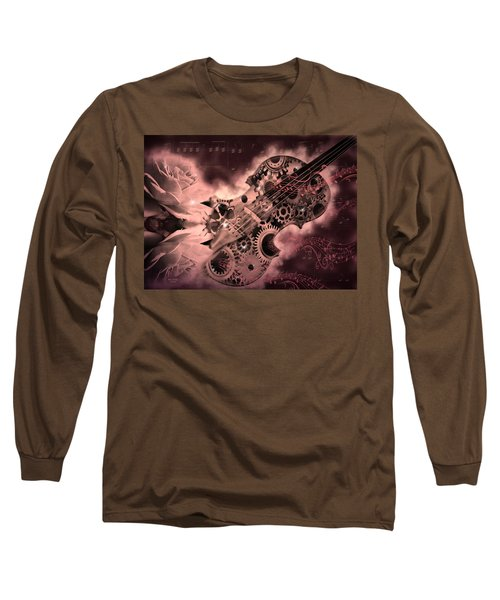 Romantic Stemapunk Violin Music Long Sleeve T-Shirt