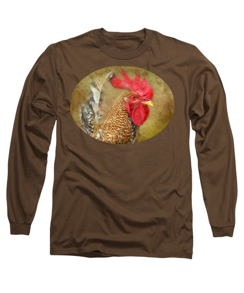 Rooster Profile Long Sleeve T-Shirt by Anita Faye