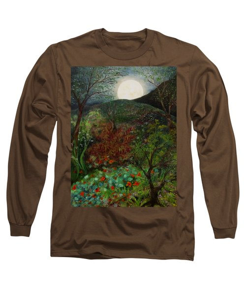 Rose Moon Long Sleeve T-Shirt