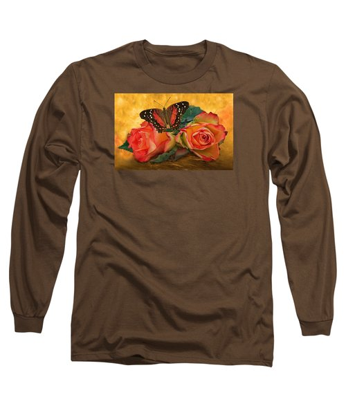 Roses In Golden Light 2 Long Sleeve T-Shirt