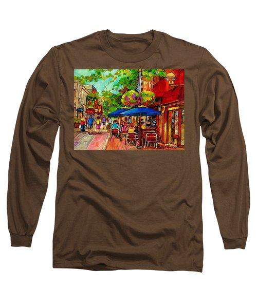 Rue Prince Arthur Montreal Long Sleeve T-Shirt