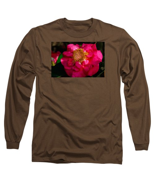 Ruffles Of Pink  Long Sleeve T-Shirt by John Harding