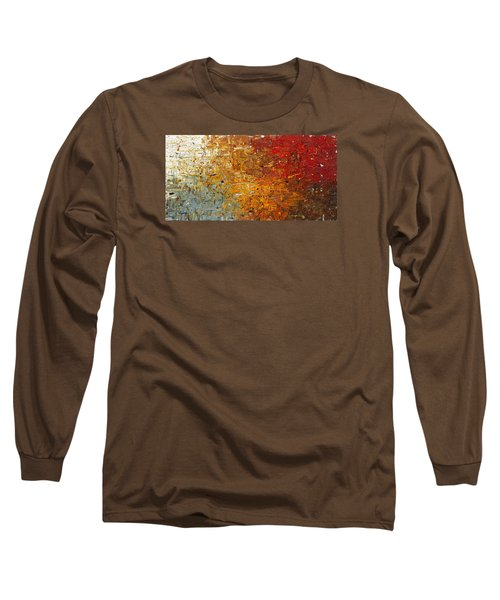 Long Sleeve T-Shirt featuring the painting Running Free - Abstract Art by Carmen Guedez