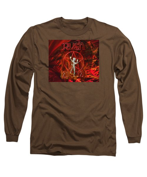 Rush 2112 Long Sleeve T-Shirt by Kevin Caudill